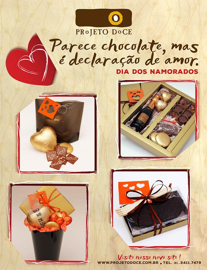 Dia dos Namorados 2016 - Parece chocolate, mas é declaração de amor - Projeto Doce